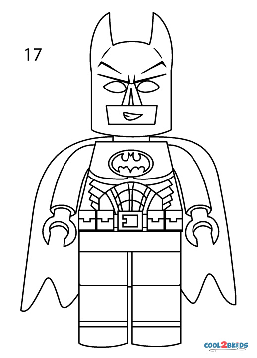 How To Draw Lego Batman (Step by Step Pictures)