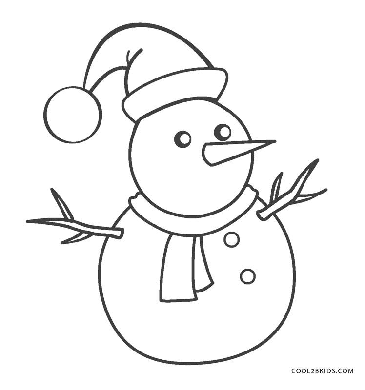Printable Coloring Pages Christmas Snowman - Coloring Home | 800x748