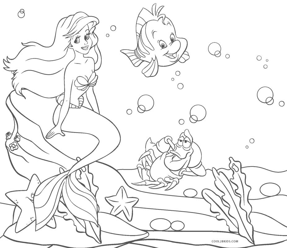 Ariel Coloring Pages Cool2bKids