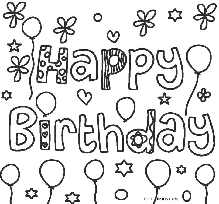 Hy Birthday Coloring Pages For Kids