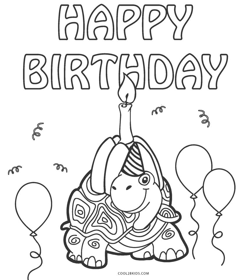 Free Printable Happy Birthday Coloring Pages For Kids | 966x850