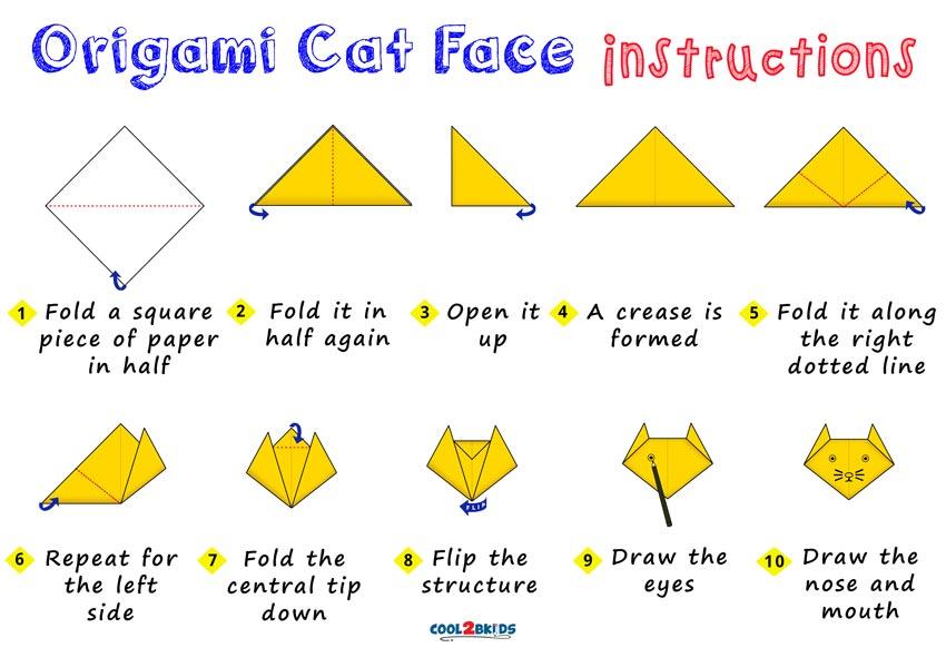 Origami Cat Face Cool2bkids