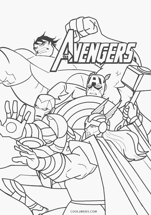 Avengers Coloring Pages | Cool2bKids