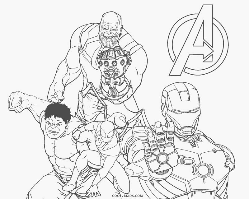 Avengers Coloring Pages Cool2bkids