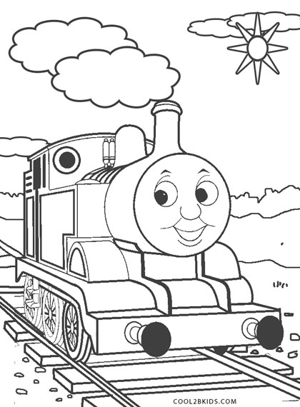 Thomas The Train Coloring Pages for Toddlers