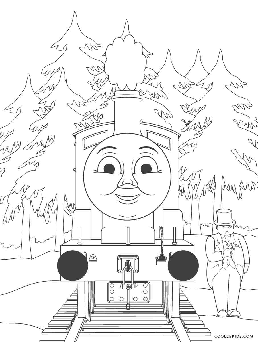 Thomas The Train Coloring Pages Cool2bkids