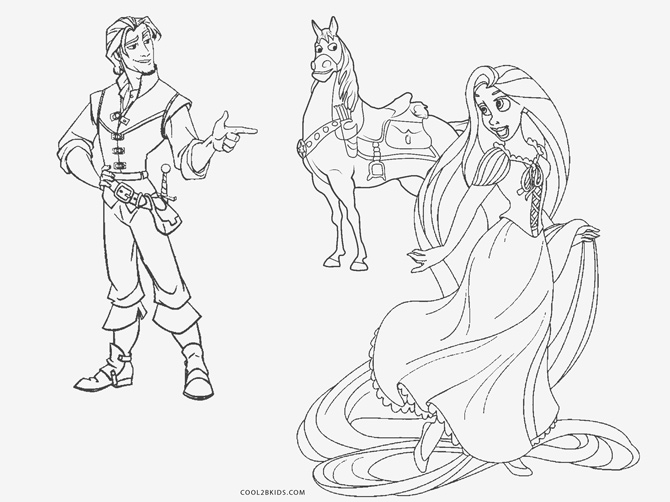Tangled for children - Tangled Kids Coloring Pages | 502x670