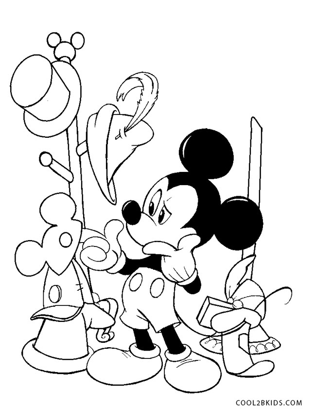 Disney Characters Coloring Page - mickey mouse coloring 2a | All ... | 850x646