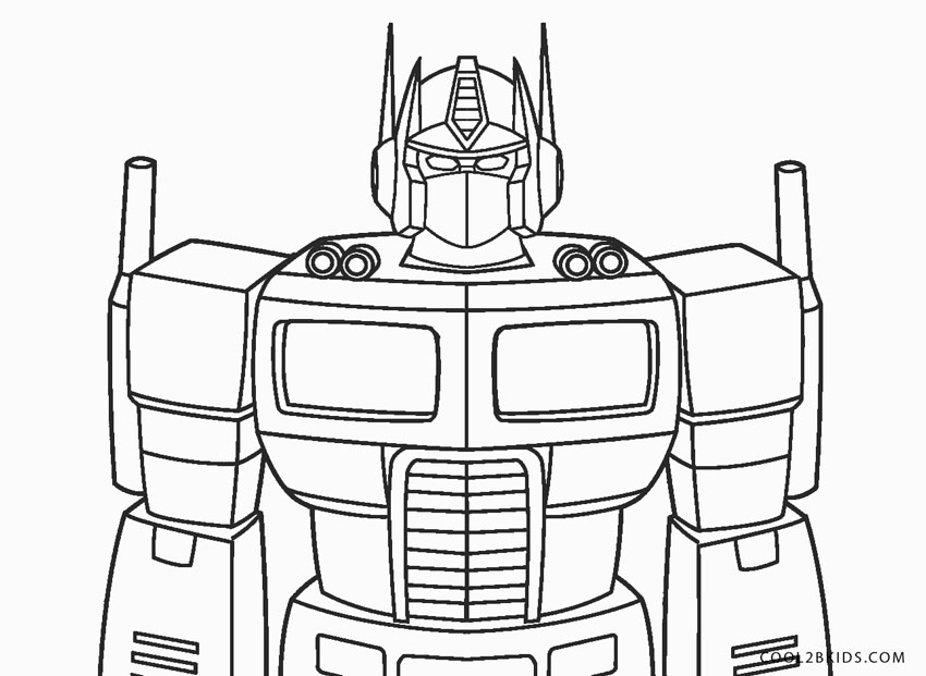 Free Printable Transformer Coloring Pages For Kids