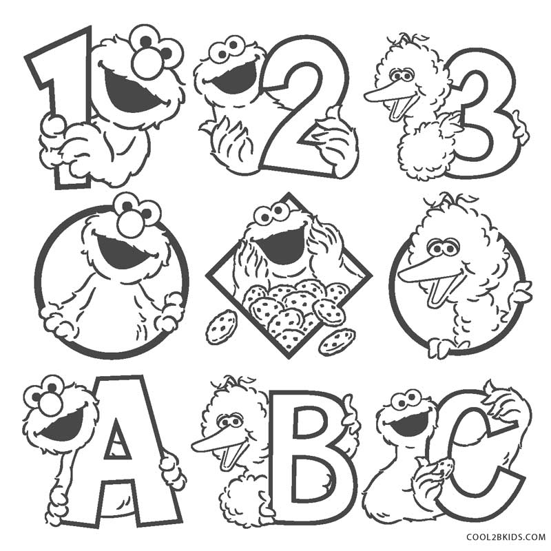 Free Printable Sesame Street Coloring Pages For Kids