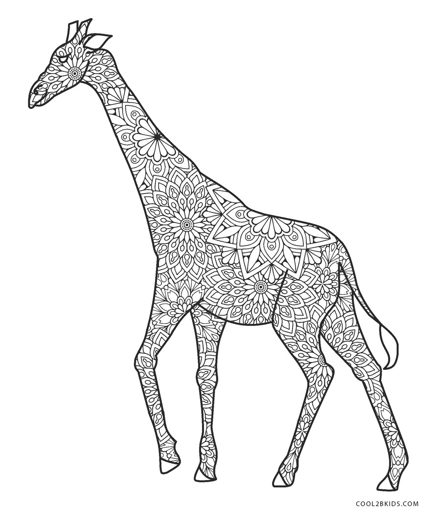 - Free Printable Giraffe Coloring Pages For Kids