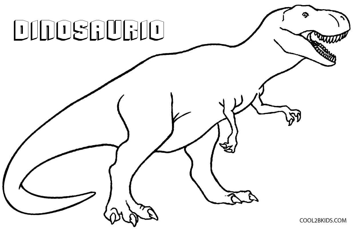 Dibujos De Dinosaurios Para Colorear Paginas Para Imprimir Gratis Como dibujar un dinosaurio kawaii facil? dibujos de dinosaurios para colorear