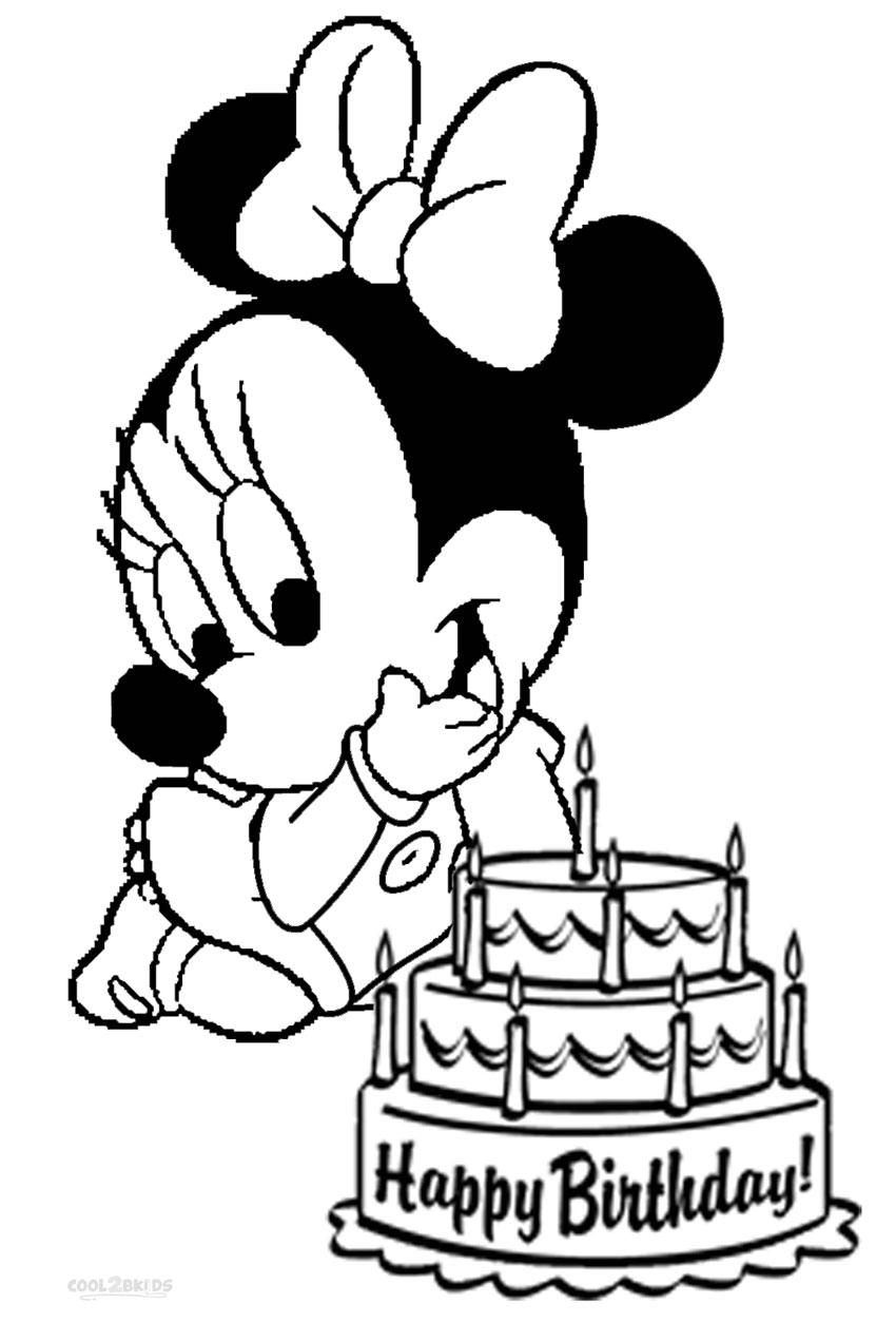 Dibujos De Minnie Mouse Para Colorear Páginas Para