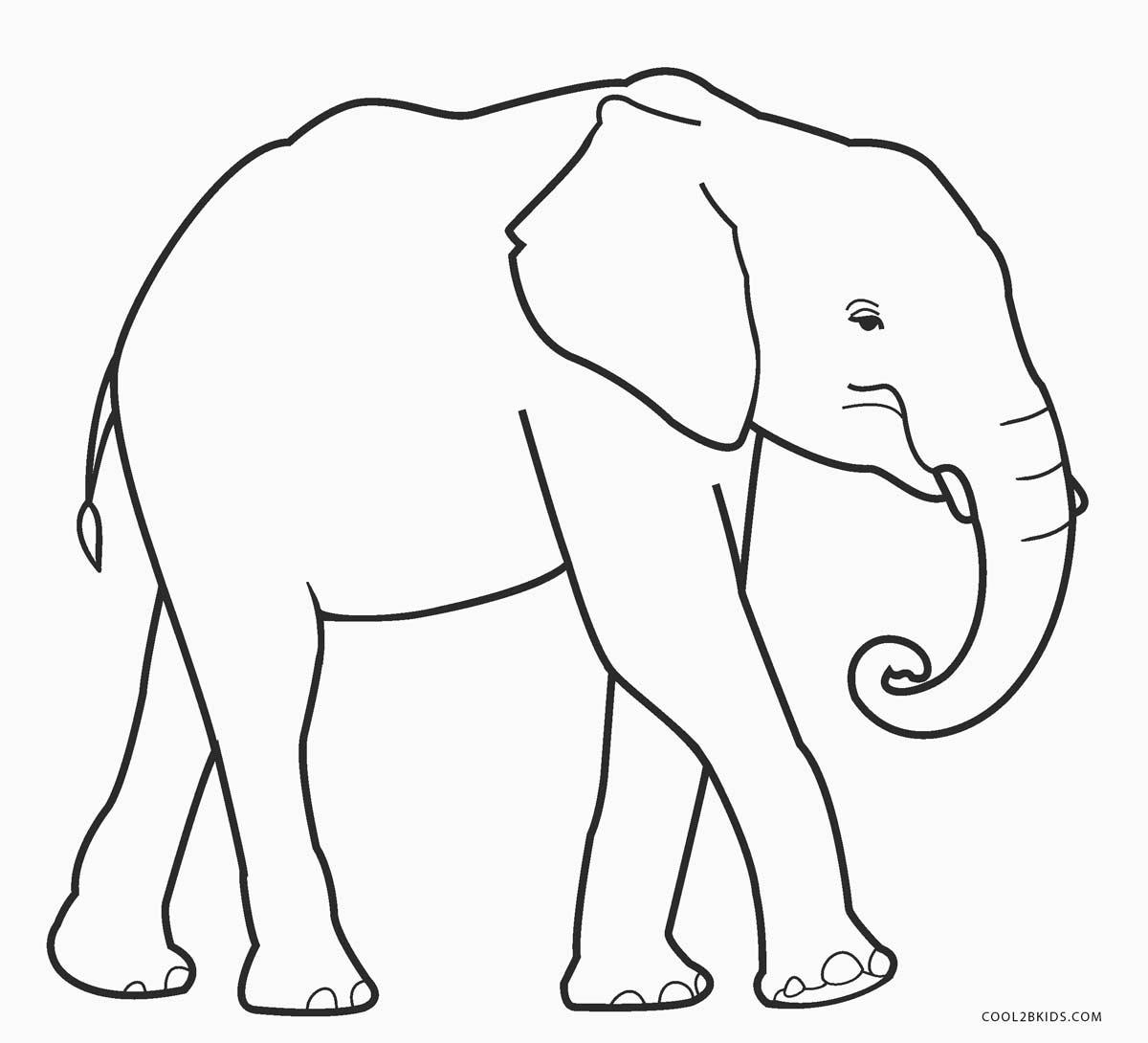 Dibujos De Elefantes Para Colorear Páginas Para Imprimir