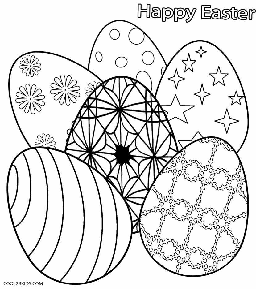 Dibujos De Huevos De Pascua Para Colorear Páginas Para
