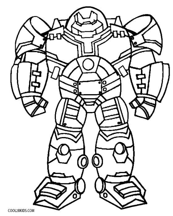 Imagenes De Hulkbuster Para Colorear - páginas para colorear
