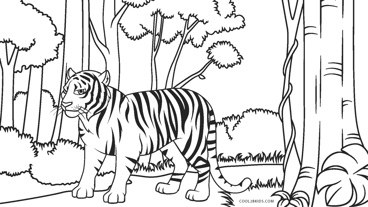 Tiger Coloring Pages Ideas With Awesome Pattern | Tiger drawing ... | 675x1200