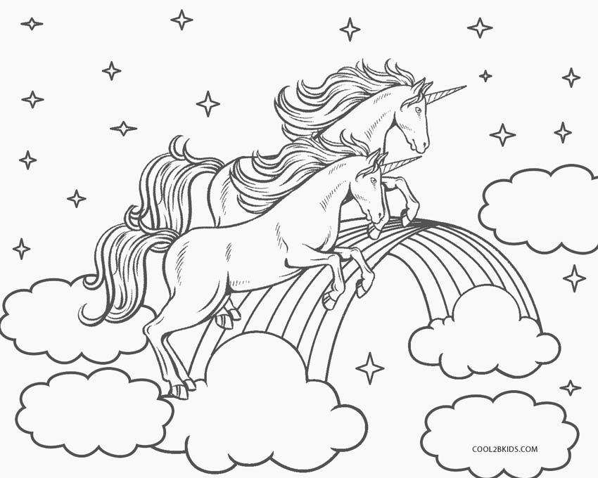 Dibujos De Unicornio Para Colorear Páginas Para Imprimir