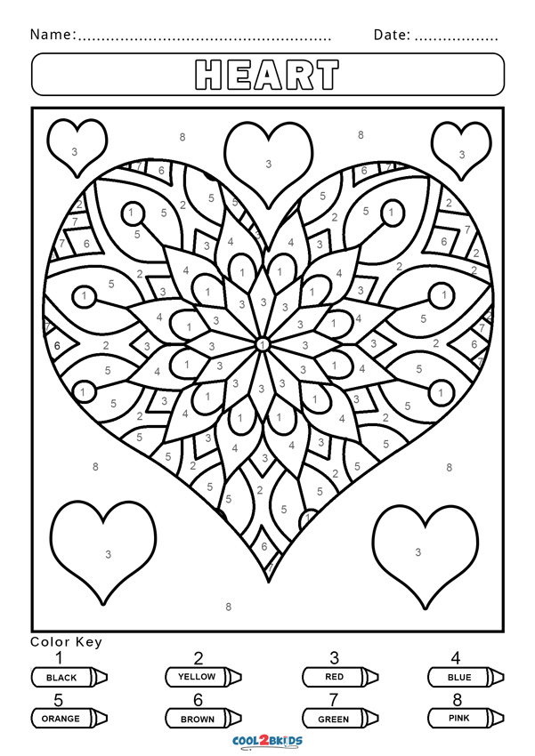 Free Color by Number Worksheets | Cool2bKids