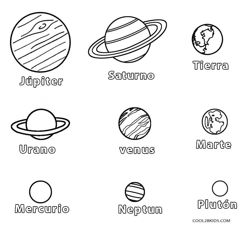 Dibujos De Planetas Para Colorear Páginas Para Imprimir