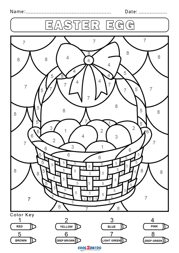 Color by number coloring pages - Hellokids.com | 850x601