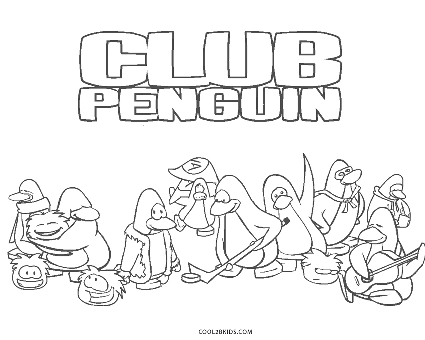 Free Printable Club Penguin Coloring Pages For Kids | Cool2bKids