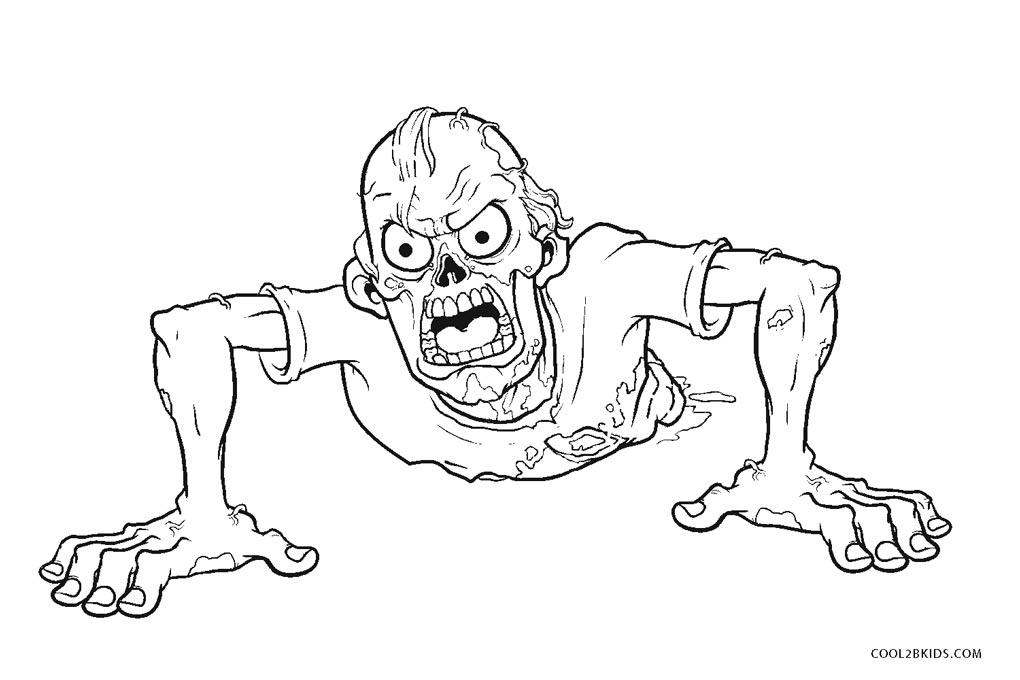 Dibujos de Zombie para colorear - Páginas para imprimir gratis
