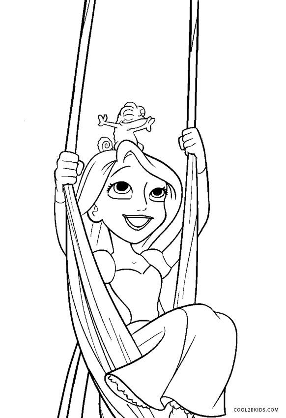 Dibujos de Rapunzel para colorear - Páginas para imprimir ...