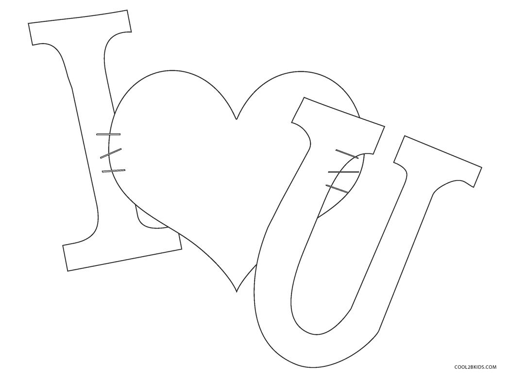 Dibujos de te amo para colorear - Páginas para imprimir gratis