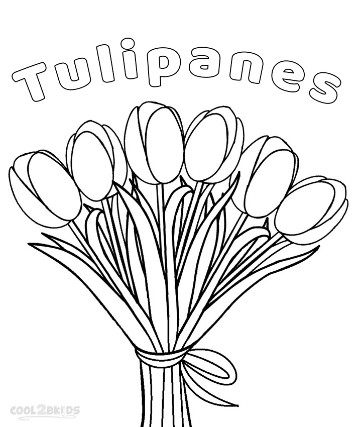 Dibujo De Tulipanes Para Colorear Páginas Para Imprimir Gratis
