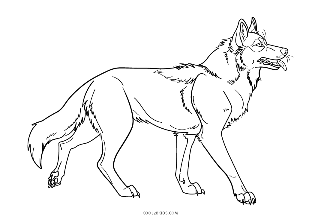 It is an image of Printable Wolf Coloring Pages with amazing