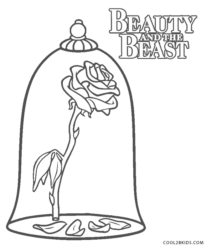 Beauty and the Beast Coloring Pages (5) | Disneyclips.com | 800x661