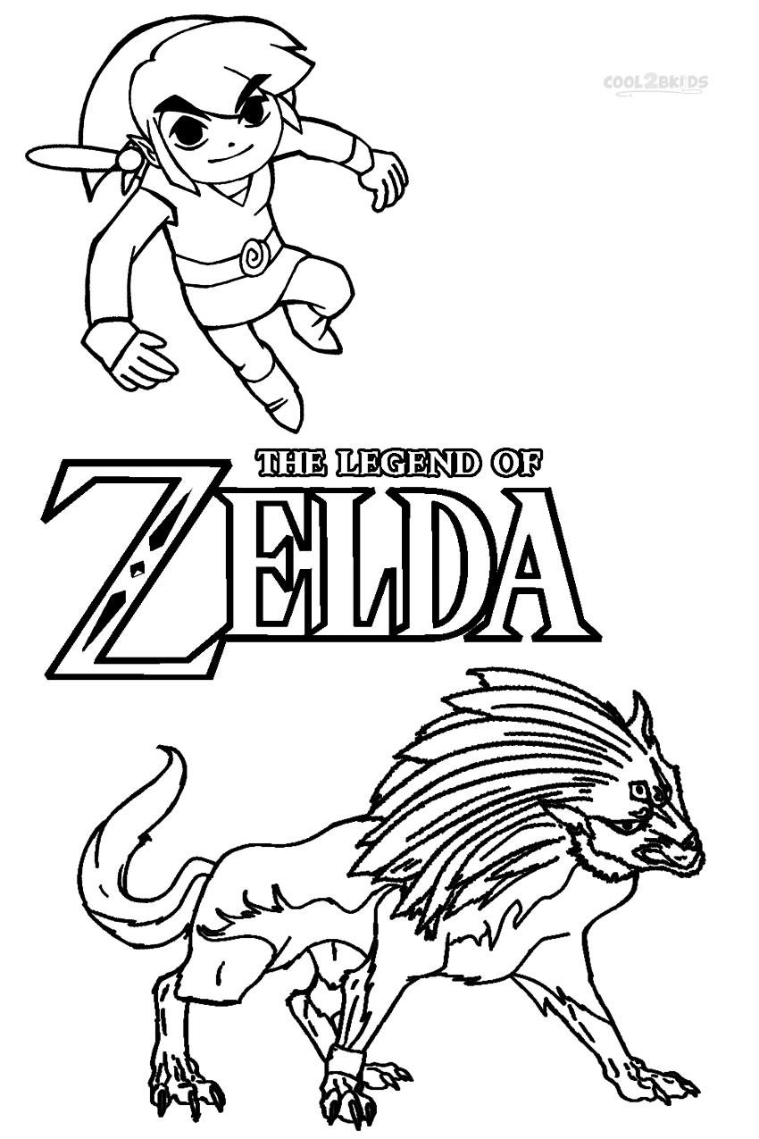 Dibujos de Zelda para colorear - Páginas para imprimir gratis
