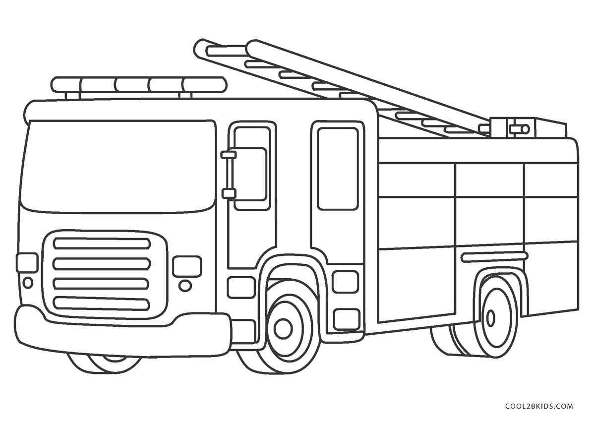 - Free Printable Fire Truck Coloring Pages For Kids