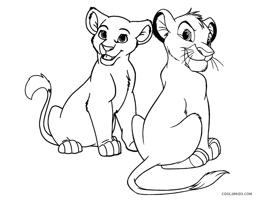 Free Lion King Coloring Pages Nala And Simba Az, Download Free ... | 658x850