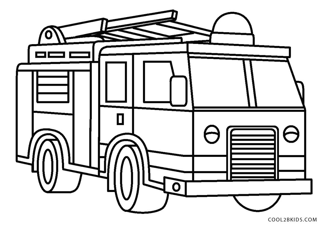 Free Printable Fire Truck Coloring Pages For Kids | 762x1100