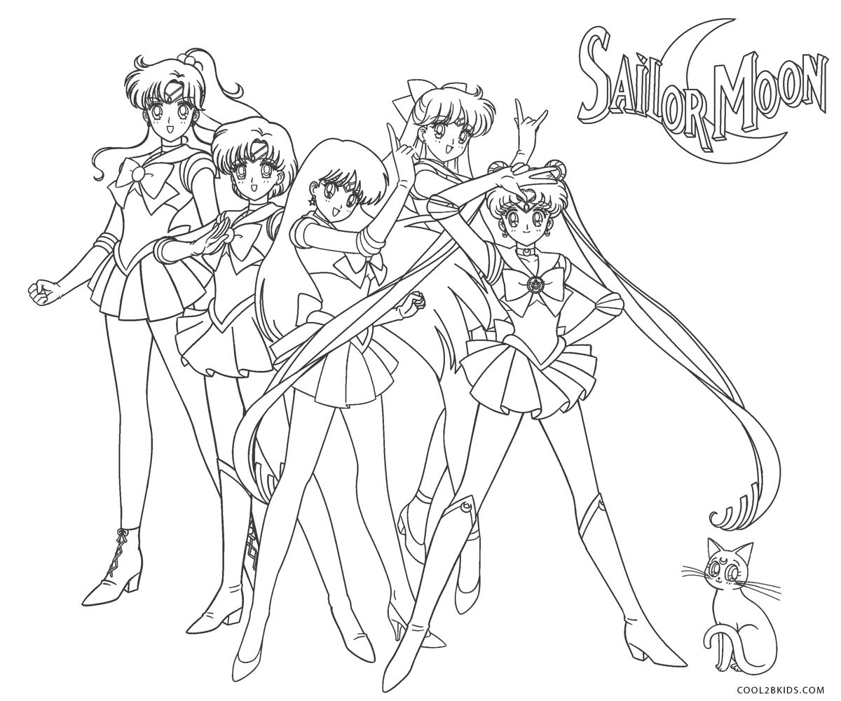 Free Printable Sailor Moon Coloring Pages For Kids | Cool2bKids