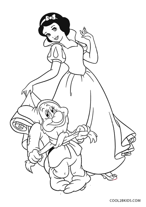 Free Printable Snow White Coloring Pages For Kids