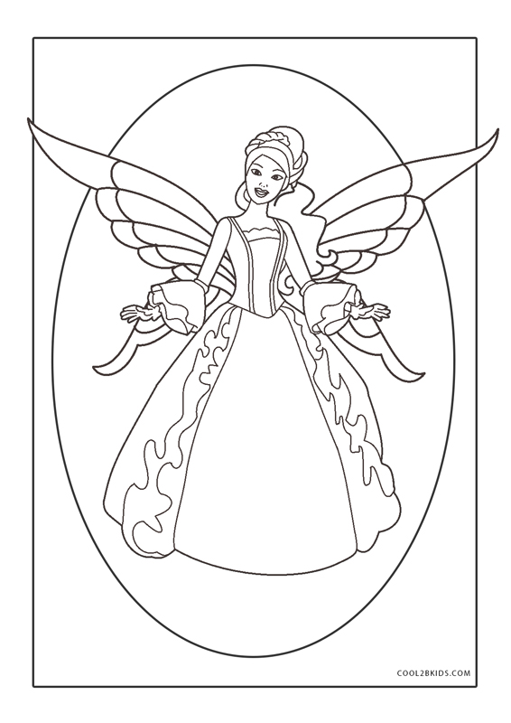 Barbie Fairy Coloring Pages Printable   800x566