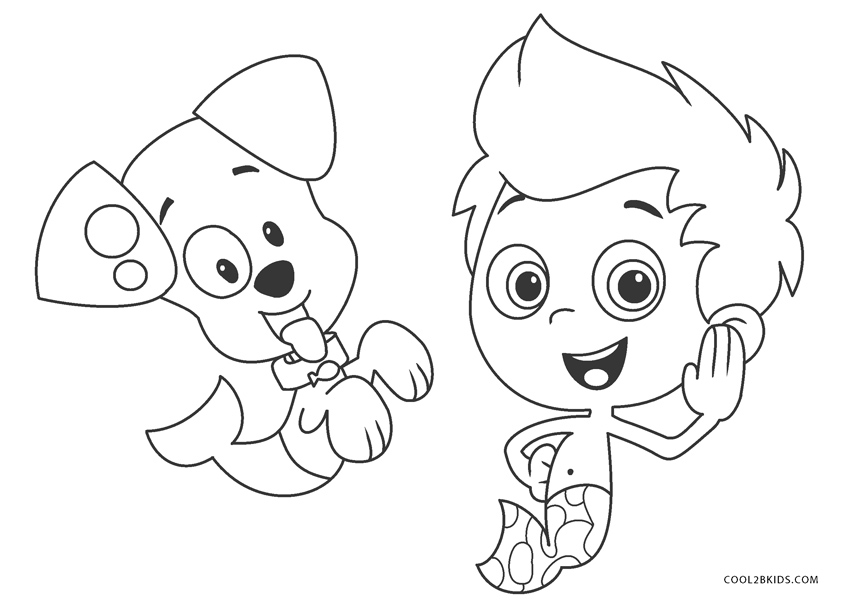 Drawing Bubbles Bubble Guppy - Bubble Guppies Molly Coloring Pages ... | 602x850