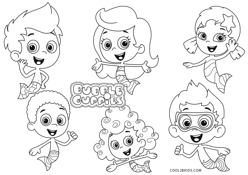 Free Printable Bubble Guppies Coloring Pages For Kids