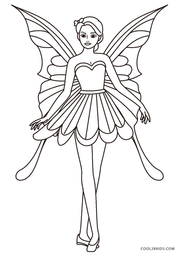 - Free Printable Fairy Coloring Pages For Kids