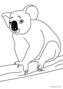 Koala Coloring Pages - GetColoringPages.com | 300x212