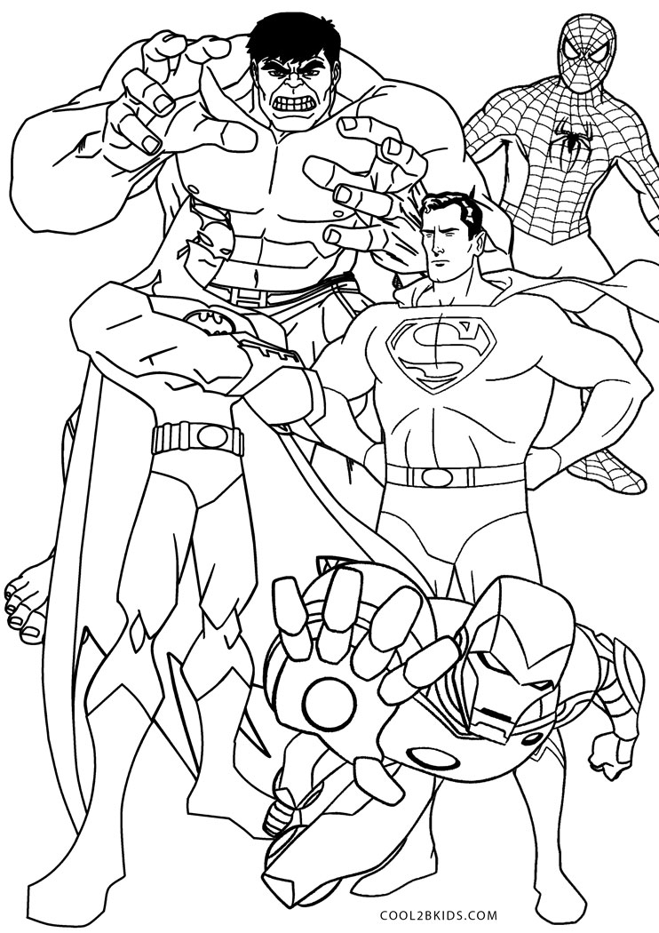 - Free Printable Superhero Coloring Pages For Kids