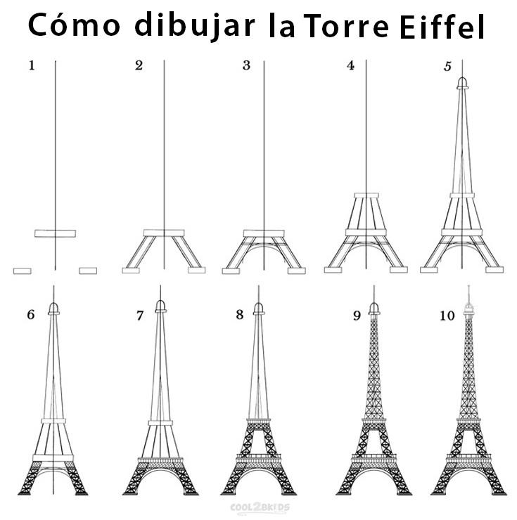 Torre Eiffel Para Dibujar Cool2bkids