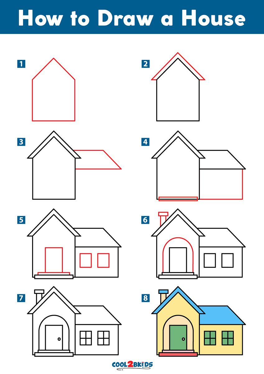 How to Draw a House Cool2bKids