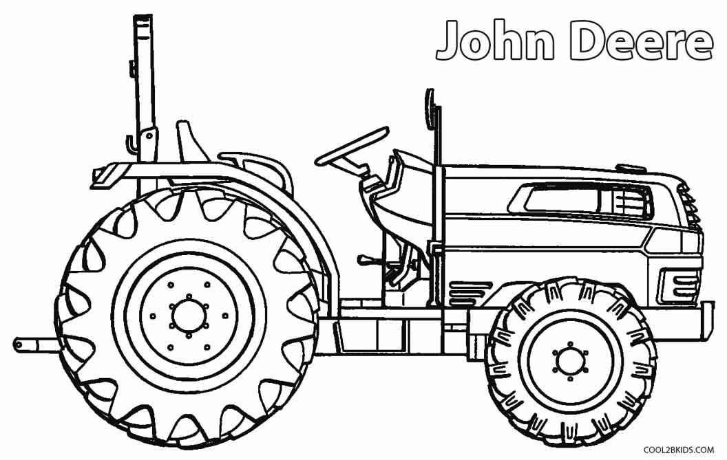 dibujos de john deere para colorear - páginas para