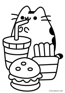 Free Printable Pusheen Coloring Pages For Kids