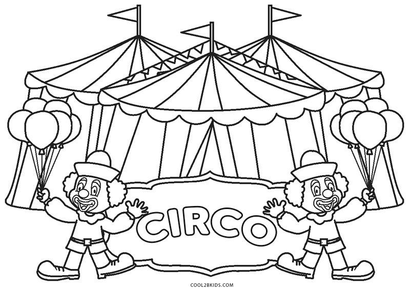 Dibujos De Circo Para Colorear Páginas Para Imprimir Gratis