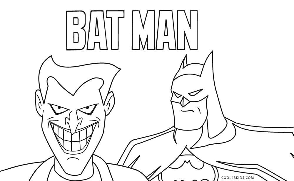 ausmalbilder batman - malvorlagen kostenlos zum ausdrucken